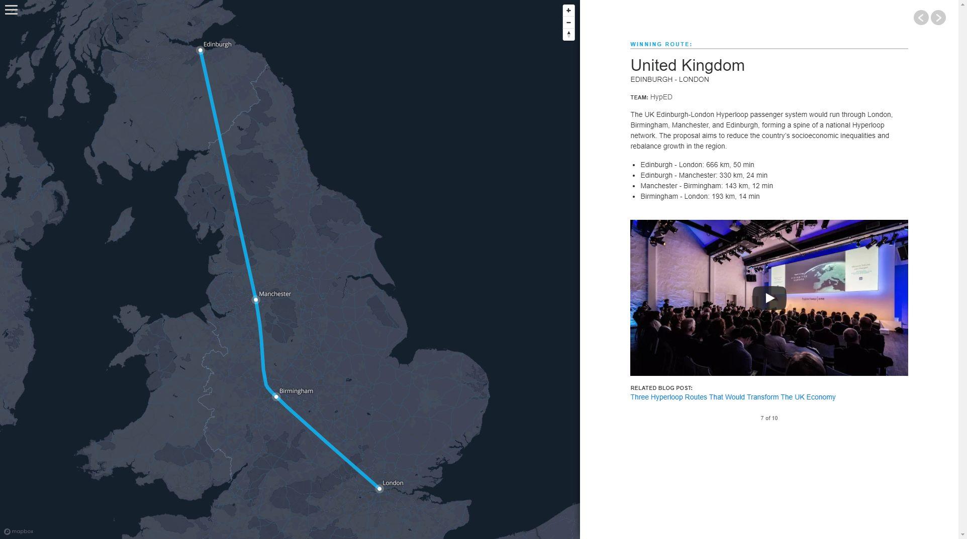 London-Manchester-Edinburgh on the Hyperloop