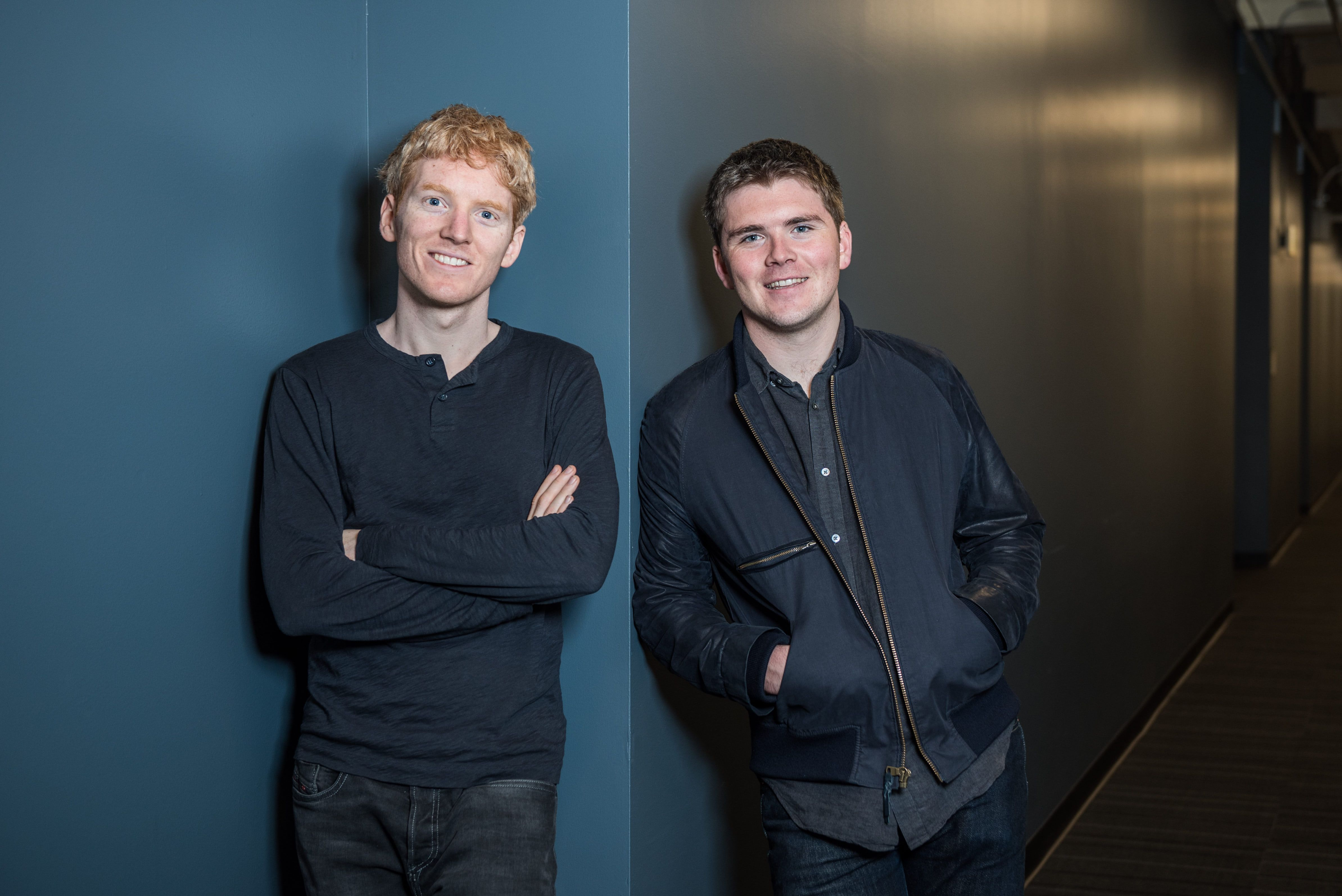 Stripe founders Patrick and John Collison