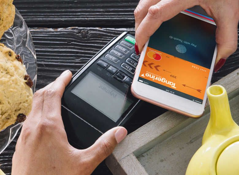 Tangerine can be integrated with Apple Pay, Google Pay, and Samsung Pay