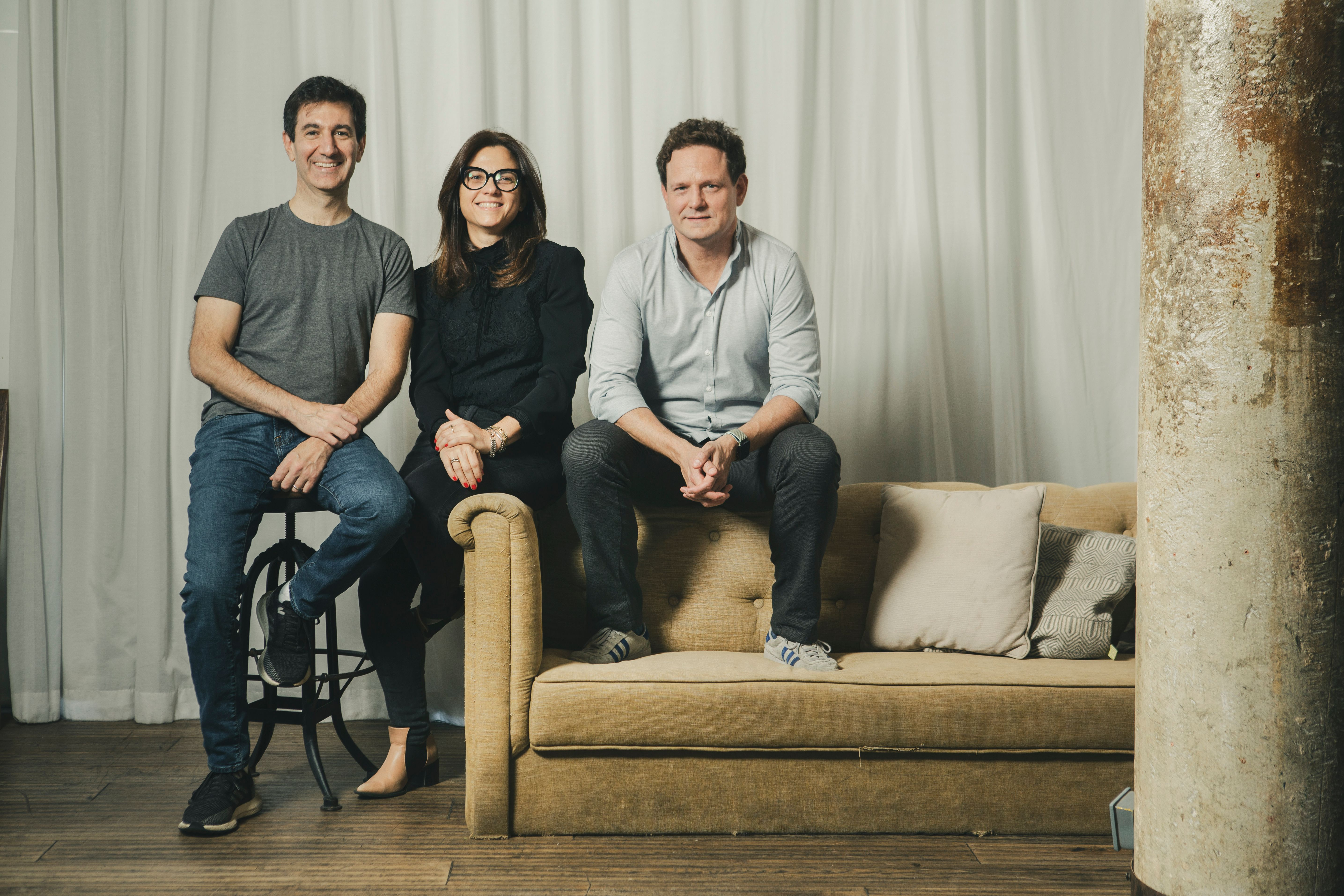 Scot Galit, Payoneer CEO (L), Keren Levy, COO at Payoneer (M) and Daniel Smeds, CEO of optile, recently acquired by Payoneer. (L)