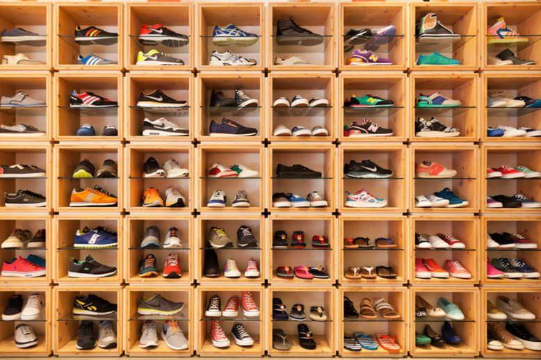 Adidas and Nike footwear