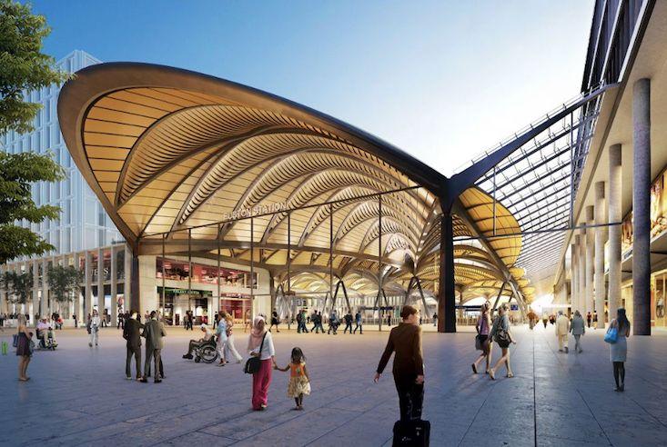 London Euston station design